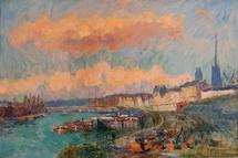 Albert Lebourg, Pré au Loup, Rouen 54x81 cm, Collection particulière