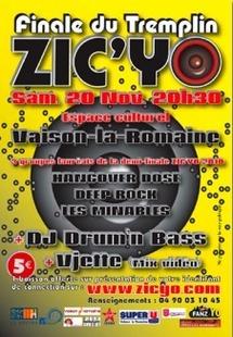 20.11.10 : Finale du tremplin Zicyo, musiques rock, Vaison-la-Romaine
