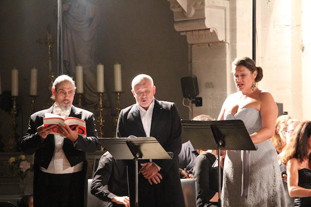 Patrice Berger, basse,  Gilles Ragon, ténor, Bénédicte Roussenq, soprano © Pierre Aimar