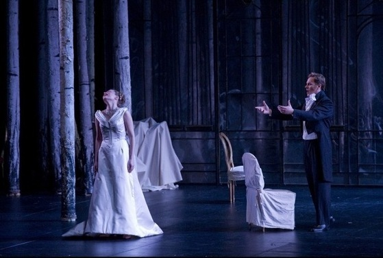 Ekaterina Chtcherbatchenco (Tatiana) et Alexei Markov (Onéguine) © Stefan Flament - Opéra de Monte-Carlo
