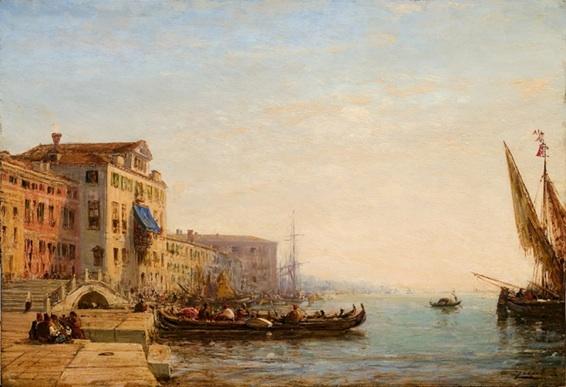 Félix Ziem, Pont ca di Dio à Venise, huile sur panneau 42 x 51 cm, collection particulière (crédit photographique : Aleksander Rabczuk)