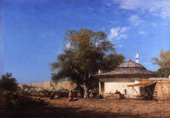 Félix Ziem, Marché à Constantinople, huile sur panneau 56 x 81 cm, collection Fondation regards de Provence (crédit photographique : Jean Bernard)