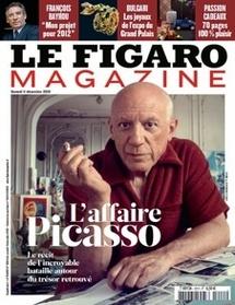 L'affaire Picasso par Eric Biétry-Rivierre paru dans Le Figaro Magazine du samedi 11 décembre 2010
