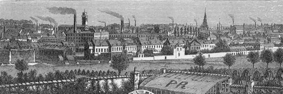 Roubaix à l'époque de l'essor industriel, en 1850