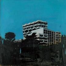 Jérémy Liron. Paysage n°56 - 2007 - huile sur toile - 123 x 123 cm