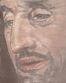 Luc Tuymans, The Nose, 2002; oil on canvas; 11 ? x 9 * in (29.9 x 24.1 cm); Collection of Jill and Dennis Roach, © Luc Tuymans
