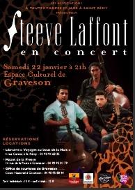Steeve Laffont en concert, Espace Culturel de Graveson (St-Rémy de Provence), le 22 janvier 2011
