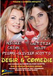 Désir et Comédie, de Pierre-Olivier Scotto avec Nicole Calfan au Palais de la Méditerranée à Nice, le 17 mars 2011