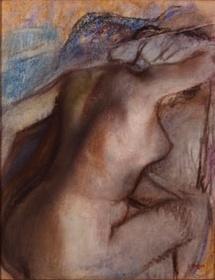 Edgar Degas, Femme nue s'essuyant la nuque, 1884, pastel. Collection SENN, Musée d'art moderne André Malraux ‐ MuMa Le Havre / Florian Kleinefenn