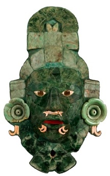 Masque funéraire. Calakmul, Campêche © Musée d'architecture maya, Fuerte de la Soledad, Campêche