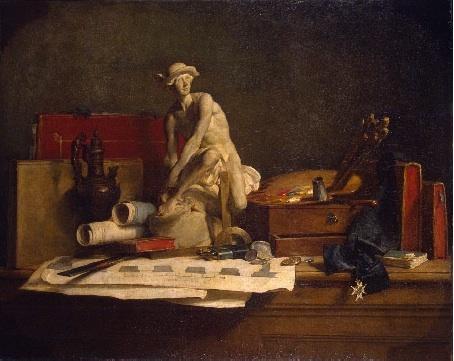 Chardin. Nature morte. Les Attributs des Arts, 1766. Musée de l'Ermitage, Saint-Pétersbourg © Musée de l'Ermitage