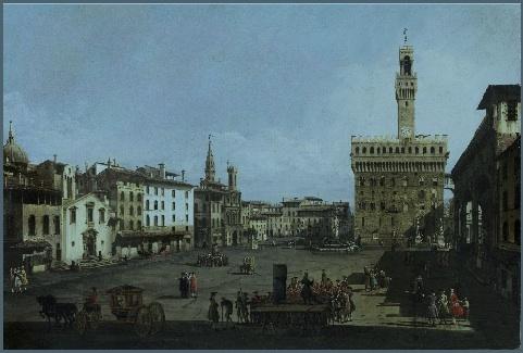 Bernardo Bellotto. La Piazza della Signoria à Florence © Szépmu_vészeti Múzeum, Budapest
