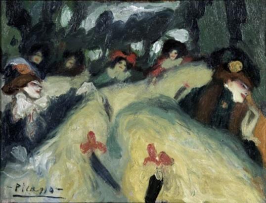 Picasso, Le French Cancan, automne 1900, huile sur toile, 46 x 61 cm, collection privée © photo Patrick Goetelen, Genève © 2011, ProLitteris, Zurich