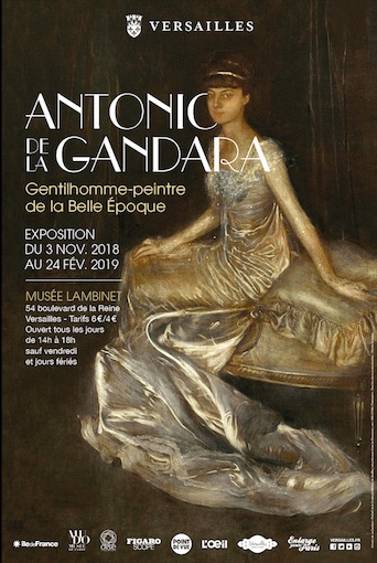 Versailles, Musée Lambinet : Antonio de La Gandara, gentilhomme-peintre de la Belle Époque, exposition du 3 novembre 2018 au 24 février 2019