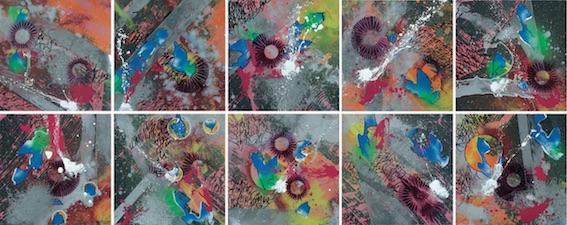 Troublenight Acrylique Aérosol et Marker sur Papier -10x50x50cm- 2012 - © Shuck One