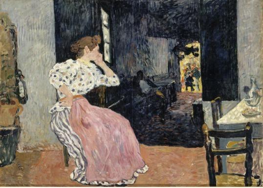 Louis Valtat,  L'estaminet ou Femme au cabaret (1896) Musée des Beaux Arts d'Angers, Dépôt du Musée d'Orsay ©RMN Musée d'Orsay ©Hervé Lewandowski © ADAGP Paris 2011