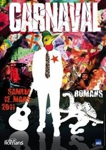 15e édition du carnaval de Romans, Drôme, le 12 mars 2011.