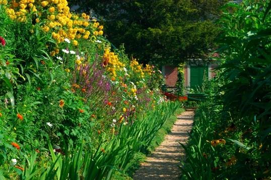 Le jardin de la maison de Claude Monet à Giverny © DR