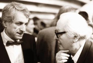 Iannis Xenakis et Olivier Messiaen, 1984 © Les Amis de Xenakis