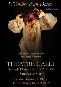 « L'Ombre d'un Doute » d'Alain Cadéo au Théâtre Galli de Sanary-sur-Mer, samedi 19 mars 2011 à 20h 30
