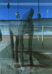 Marc Desgrandchamps, Sans titre,  2009, Huile sur toile, 200 x 140 cm,  Courtesie Galerie Zürcher, Paris - New York