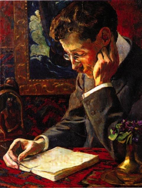 George-Daniel de Monfreid (1856-1929) Portrait de Victor Segalen, 1909 Huile sur toile Collection particulière