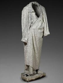Robe de chambre de Balzac, plâtre, vers 1890, Meudon, ©musee Rodin, Paris