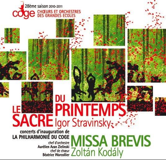 Concert Chœurs et Orchestres des Grandes Ecoles (COGE): le Sacre du printemps de Stravinski / Missa Brevis de Kodaly
