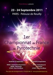 1er Championnat de France de Pyrotechnique, Pelouse de Reuilly, Paris, 23 et 24 spetmbre 2011