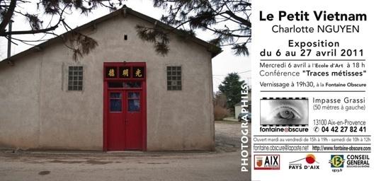 Exposition « Le Petit Vietnam », à La Fontaine Obscure, Aix-en-Provence, du 6 au 27 avril 2011