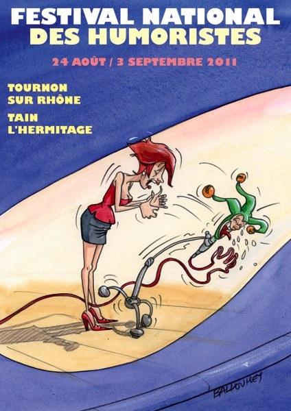 L'affiche du 23e Festival National des Humoristes (24 août au 3 septembre 2011) par Pierre Ballouhey