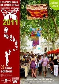 Les Papillons de Carpentras 2011, exposition aérienne de peinture, 25 juin au 31 août