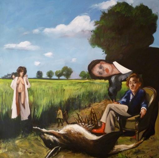 Abel Pradalié, Partie de chasse en bourgogne 160x160 2010