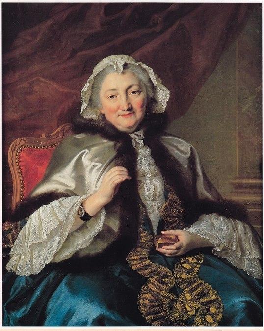 Portrait de Madame Geoffrin, 1747, par Pierre Allais  (1700-1782), huile sur toile – coll.particulière