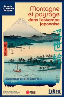 Grenoble, Musée de l'Ancien Évêché : Montagne et paysage dans l'estampe japonaise, exposition  du 8 décembre 2018 au 31 mars 2019