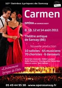 Soirées lyriques au théâtre antique de Sanxay (Vienne), du 8 au 14 août 2011