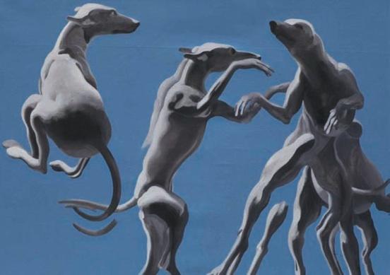 Henri Cueco, série des chiens qui sautent © DR