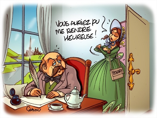 Flaubert vu par le caricaturiste Emmanuel Chaunu