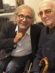 Frédéric Zeitoun et Charles Aznavour  © Pierrick Bequet