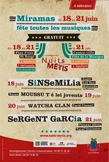 18ème Festival Nuits Métis, 4 nuits de concerts gratuits, du 18 au 21 juin à Miramas