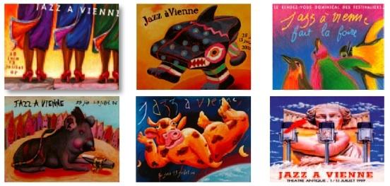 Histoire d'affiches à Jazz à Vienne, par Bruno Théry et Jean-Paul Boutellier, éditions Lyonnaises d'art et d'histoire