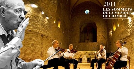Pablo Casals et le Fine Arts Quartet, photo-montage © DR