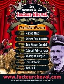 Les concerts du Facteur Cheval au palais Idéal d'Hauterives du 23 juin au 30 juillet 2011