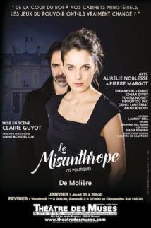 Monaco, théâtre des Muses : Le Misanthrope (vs Elysée 2019), de Molière, du 31/1 au 3/2/19