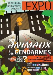 Melun, Musée de la gendarmerie nationale, exposition Des animaux et des gendarmes, du 1/2 au 22/9/19