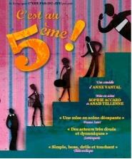 Avignon Off : C'est au cinquième ! d'Anne Vantal, par la Cie C'est-pas-du-jeu au Théâtre du Monte-Charge