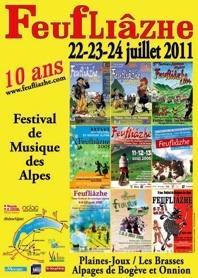 Les Alpes du Léman présentent le festival Feufliâzhe 2011 : Vni pi écutâ, shantâ, dyouèyi u danfi !. A à Plaines-Joux/Les Brasses