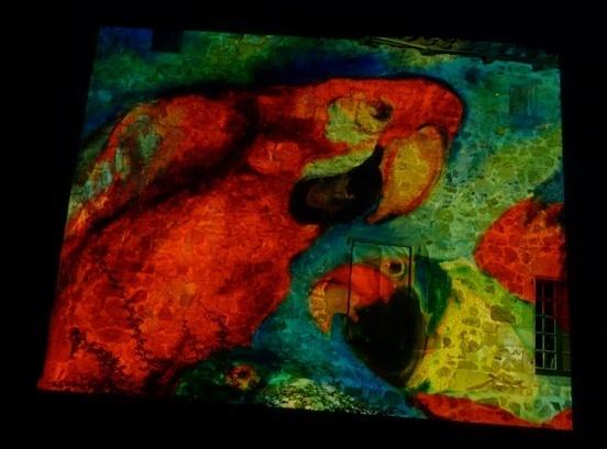 Nocturne dans le cadre de l'exposition Colette Bonzo au Château-musée de Tournon sur Rhône le 16 juillet 2011