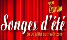 Festival « Les Songes d'Eté 2011 » du 30 juillet au 7 août 2011 à ANNOT (04)