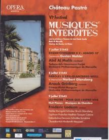 VIe festival des musiques interdites au château Pastré à Marseille, par Gérard.G. Léopold di Offite